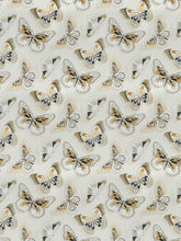 Load image into Gallery viewer, Vervain La Farfalla Linen Butterfly Drapery Upholstery Fabric / Saffron