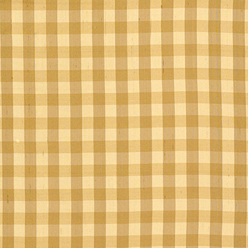 SCHUMACHER INGLEBURY SILK CHECK FABRIC 3439001 / COIN