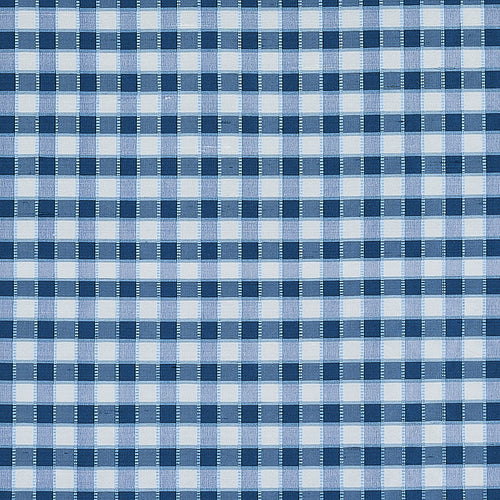 SCHUMACHER INGRID SILK CHECK FABRIC 3453004 / BLUE