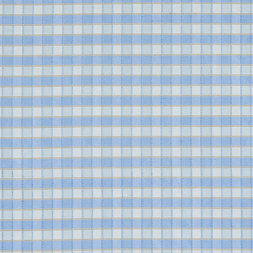 SCHUMACHER INGRID SILK CHECK FABRIC 3453005 / SKY