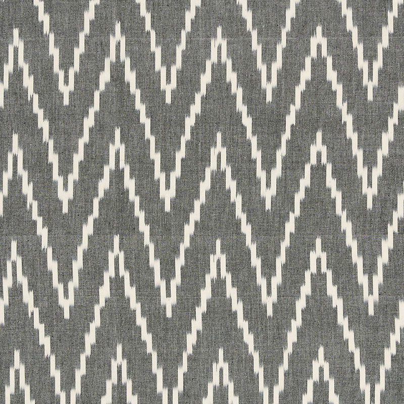 SCHUMACHER KASARI IKAT FABRIC 3470003 / GRAPHITE