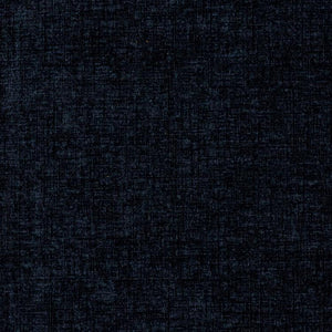 Plush Chenille Upholstery Fabric Black Navy Blue / Admiral