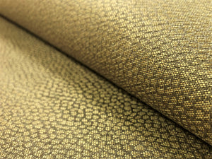 Designer MCM Mid Century Modern Water & Stain Resistant Gold Bronze Small Scale Geometric Abstract Upholstery Fabric