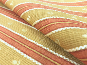 Kravet Mustard Gold Coral Embroidered Small Scale Floral Stripe Upholstery Drapery Fabric