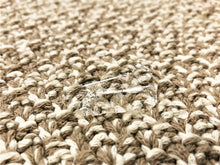 Load image into Gallery viewer, Designer Woven Knit Melange Beige Ivory MCM Mid Century Modern Tweed Upholstery Fabric
