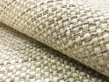 Load image into Gallery viewer, Designer Textured Woven Gray Beige Ivory Neutral MCM Mid Century Modern Tweed Basketweave Upholstery Drapery Fabric