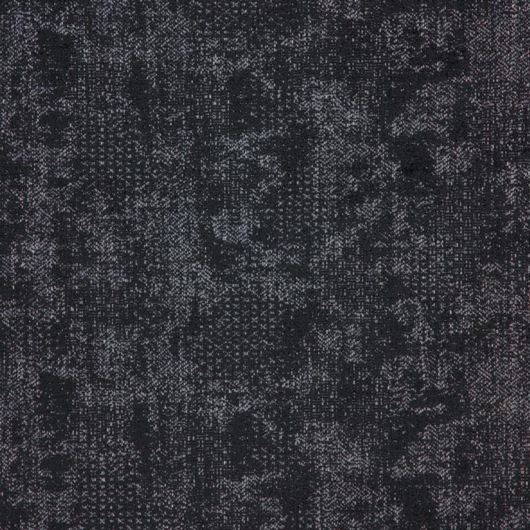 Cardozo Black Abstract Mid Century Modern Upholstery Fabric / Charcoal