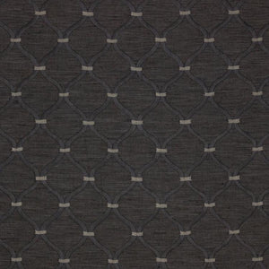 Romesco Trellis Dark Gray Geometric Fabric / Walnut