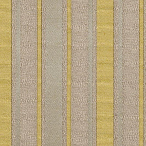 Shelton Stripe Beige Seafoam Yellow Cotton Blend Fabric / Goldenrod