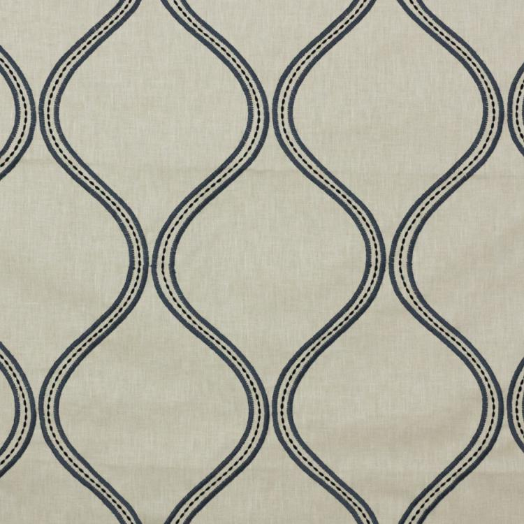 Stitchery Trellis Embroidered Drapery Fabric / Flannel