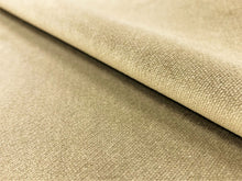 Load image into Gallery viewer, Designer Beige Taupe Water & Stain Resistant Performance Velvet Upholstery Drapery Fabric