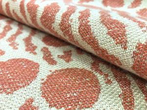Donghia Moxie Coral Beige 10277-006 Tribal Ethnic Sunbrella Indoor Outdoor Water & Stain Resistant Abstract Upholstery Drapery Fabric