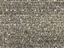 Load image into Gallery viewer, Crypton Stain Water Resistant Mid Century Modern Basketweave Herringbone Tweed Charcoal Gray Silver Upholstery Fabric RMCR XII