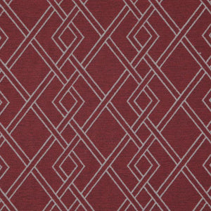 Alton Red Geometric Upholstery Fabric / Berry