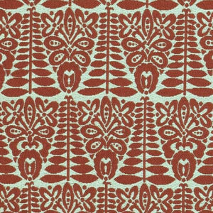 Maasai Red Beige Tribal Ethnic African Upholstery Fabric / Cayenne