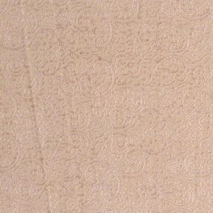 Sanremo Scroll Beige Damask Upholstery Fabric / Fawn
