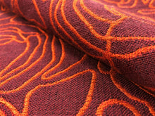 Load image into Gallery viewer, Reversible Designer Marsala Wine Red Orange Abstract Upholstery Fabric