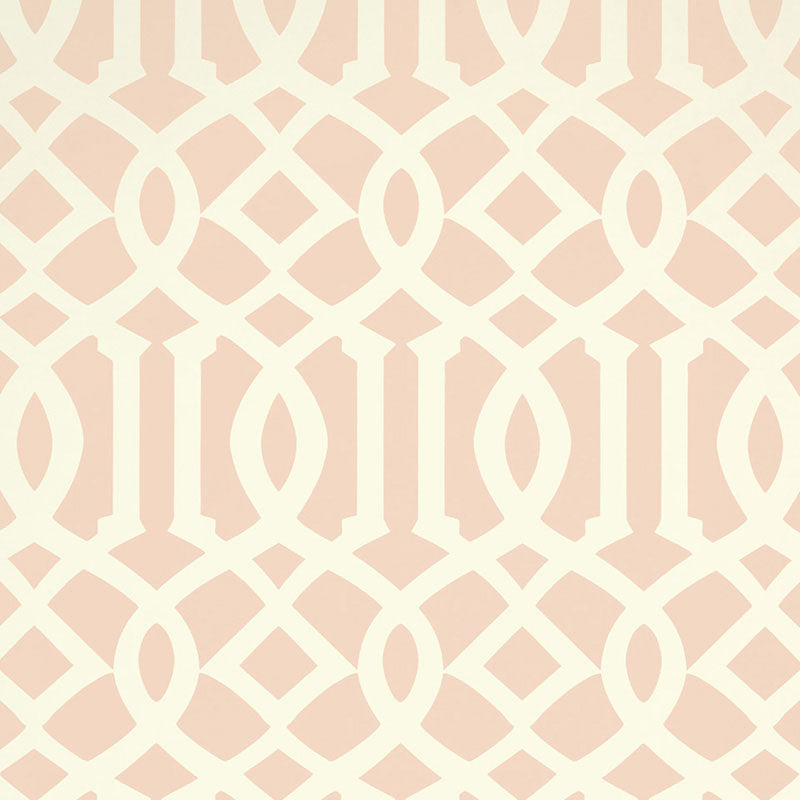 Schumacher Imperial Trellis II Wallpaper 5005806 / Blush