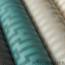 Load image into Gallery viewer, Schumacher Metropolitan Fret Wallpaper 5005894 / Turquoise