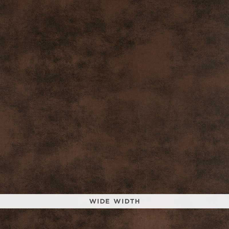 Schumacher Sueded Leather Wallpaper 5007391 / Cordovan