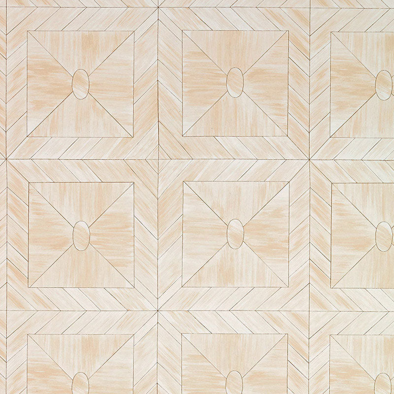 Schumacher Bone Frame Wallpaper 5007730 / Natural