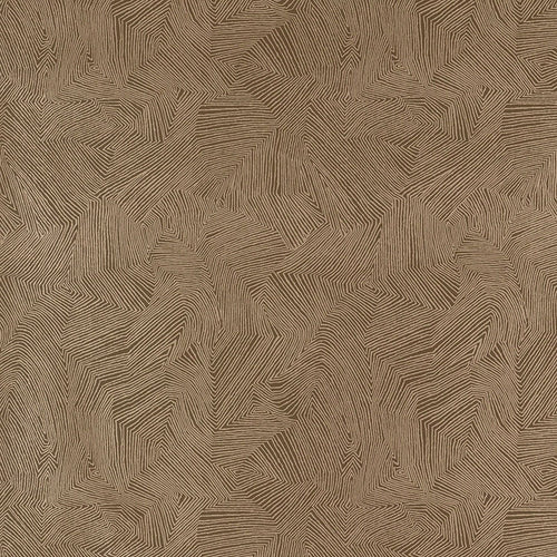 Schumacher Labyrinth Metallic Wallpaper 5007771 / Espresso