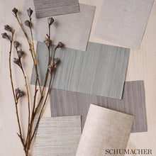 Load image into Gallery viewer, Schumacher Corded Stripe Wallpaper 5007921 / Natural