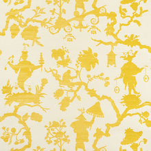 Load image into Gallery viewer, Schumacher Shantung Silhouette Sisal Wallpaper 5008250 / Yellow