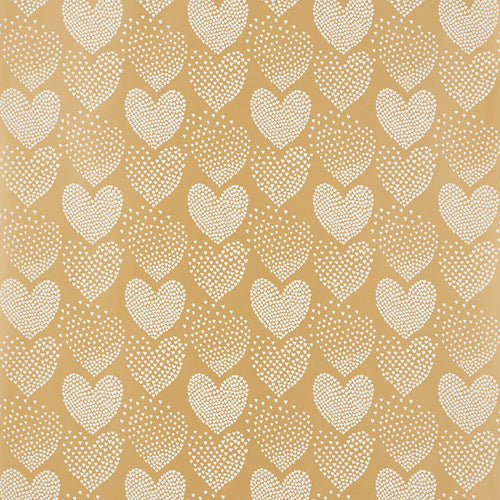 Schumacher Heart Of Hearts Wallpaper 5008360 / Ivory & Gold