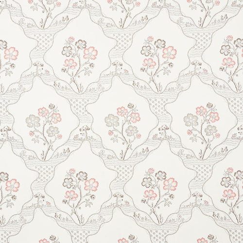 Schumacher Marella Wallpaper 5008800 / Rose