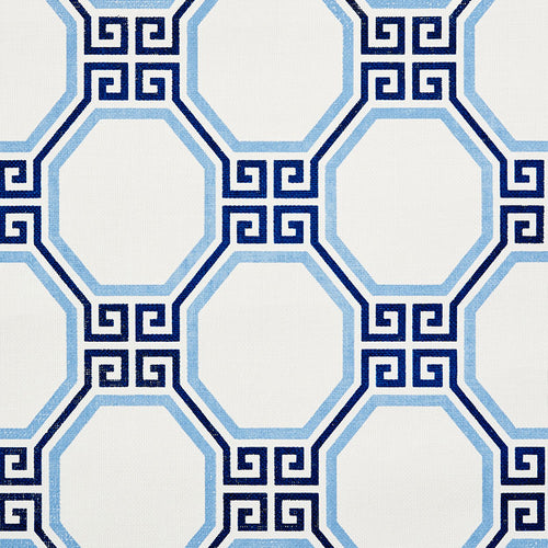 Schumacher Octavia Paperweave Wallpaper 5008890 / Marine