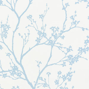 Schumacher Twiggy Paperweave Wallpaper 5008940 / Sky