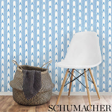 Load image into Gallery viewer, Schumacher Santa Barbara Ikat Wallpaper 5009222 / Neutral