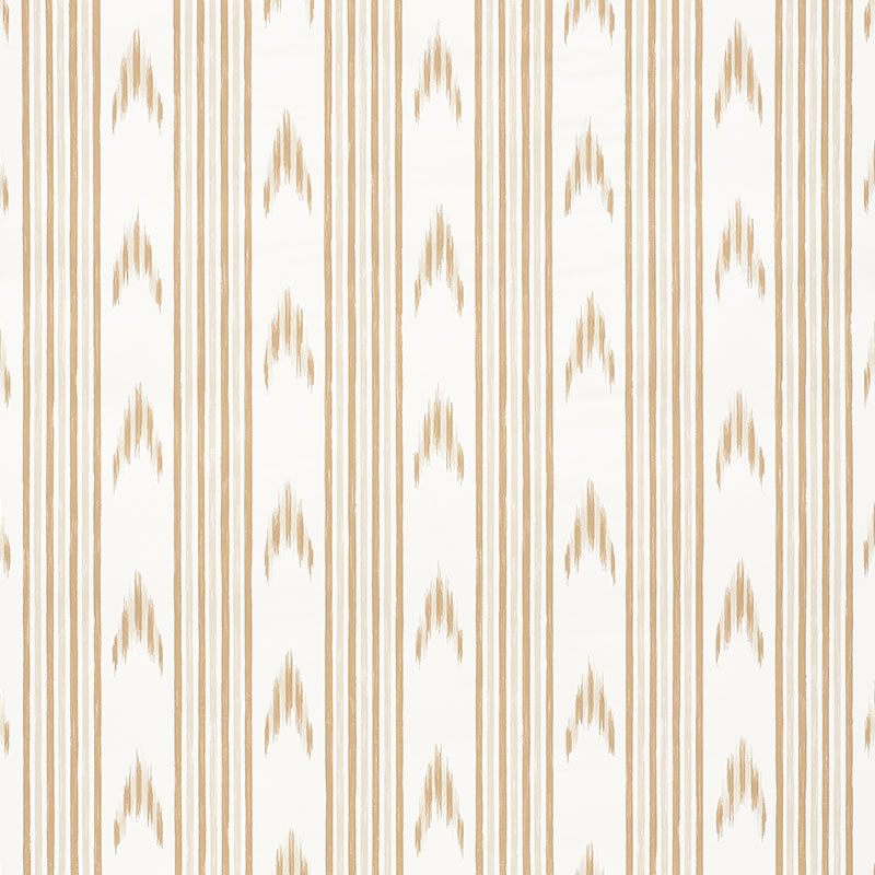 Schumacher Santa Barbara Ikat Wallpaper 5009222 / Neutral