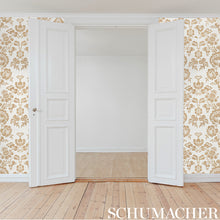 Load image into Gallery viewer, Schumacher Simone Damask Wallpaper 5009610 / Gold