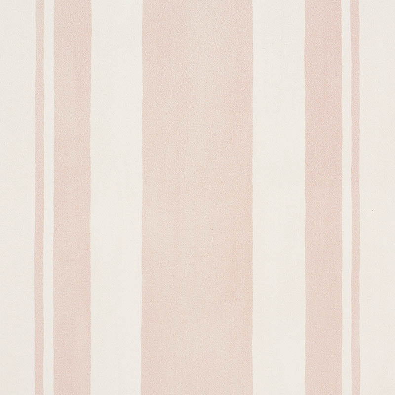 Schumacher Villa Stripe Wallpaper 5009923 / Blush