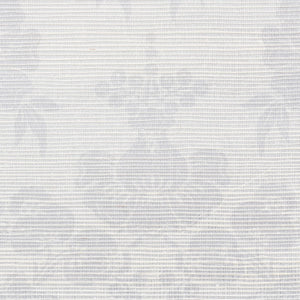 Schumacher Simone Damask Grasscloth Wallpaper 5010120 / Silver