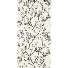 Load image into Gallery viewer, Schumacher Twiggy Vinyl Wallpaper 5010150 / Black On Ivory