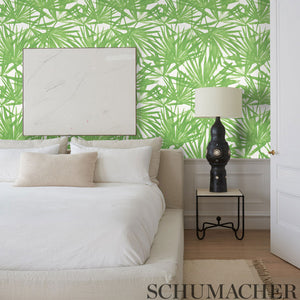 Schumacher Sunlit Palm Wallpaper 5010560 / Green