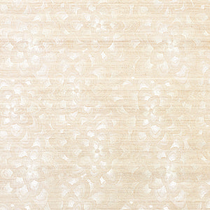 SCHUMACHER LOTUS EMBROIDERY SISAL WALLPAPER 5011210 / IVORY