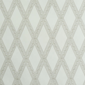 Schumacher Les Losanges Toile Wallpaper 5011360 / Stone