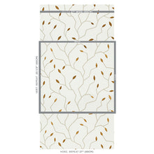 Load image into Gallery viewer, Schumacher Cymbeline Wallpaper 5011380 / Ivory & Gold