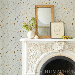 Schumacher Cymbeline Wallpaper 5011380 / Ivory & Gold