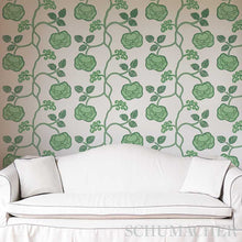 Load image into Gallery viewer, Schumacher Queen Fruit Wallpaper 5011410 / Silver White