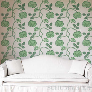 Schumacher Queen Fruit Wallpaper 5011410 / Silver White