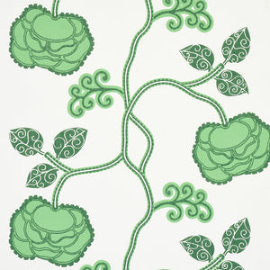 Schumacher Queen Fruit Wallpaper 5011411 / Jade
