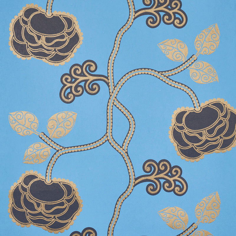 Schumacher Queen Fruit Wallpaper 5011412 / Lapis