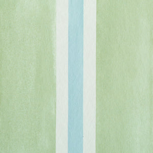 Schumacher Watercolor Stripe Wallpaper 5011570 / Leaf