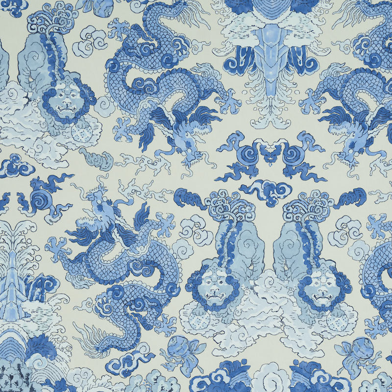 Schumacher Magic Mountain Dragon Wallpaper 5011590 / Porcelain