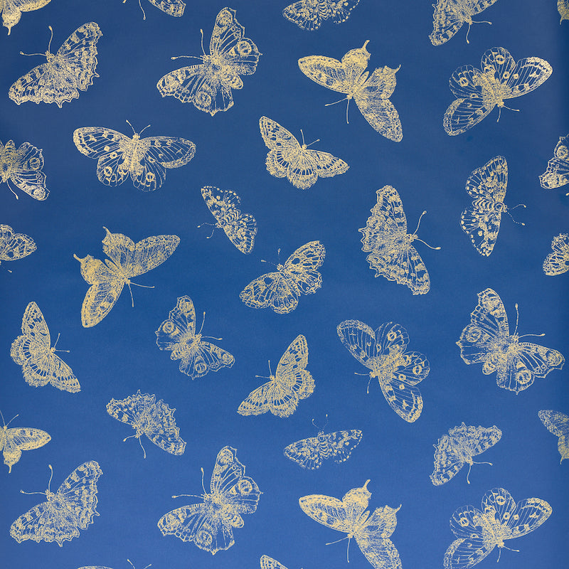 Schumacher Burnell Butterfly Wallpaper 5011741 / Blue